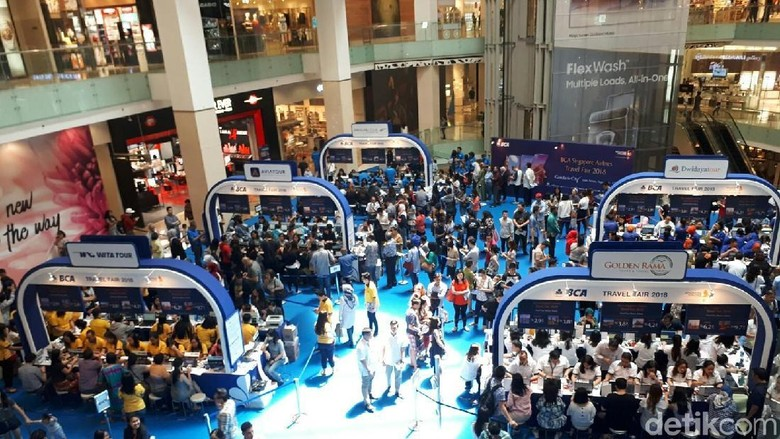 Suasana Singapore Airlines-BCA Travel Fair (Kurnia/detikTravel)