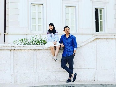 Mereka kembaran memakai baju dengan warna sama. Kompaknya! (Foto: Instagram @agusyudhoyono)