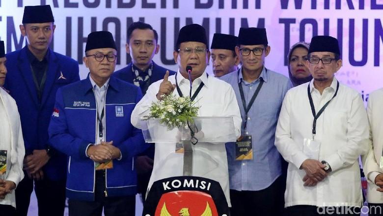Pidato Prabowo Usai Daftar Pilpres di KPU