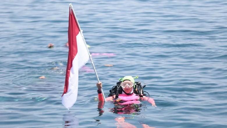 Foto: Pemecahan rekor MURI di Manado (dok Polri)