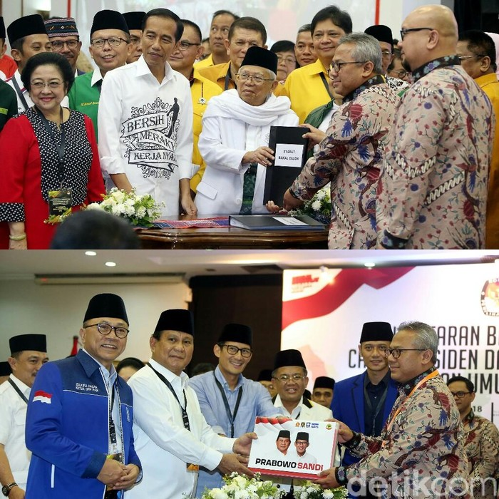 Ilustrasi Jokowi-Maruf dan Prabowo-Sandi (Dok detikcom)