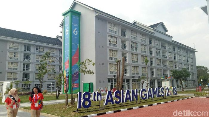 Wisma Atlet Jakabaring Sport City di Palembang sudah beroperasi. (Raja Adil Siregar/detikSport)