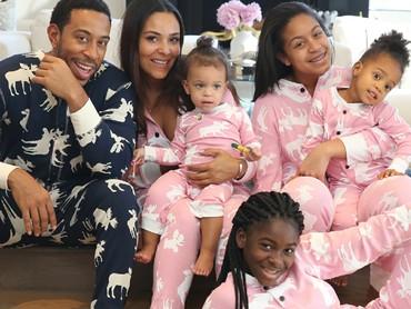 Kompak selalu Ludacris dan keluarga. (Foto: Instagram/eudoxie)