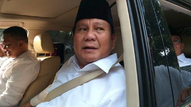 Usai Daftar ke KPU, Prabowo Kembali ke Kertanegara