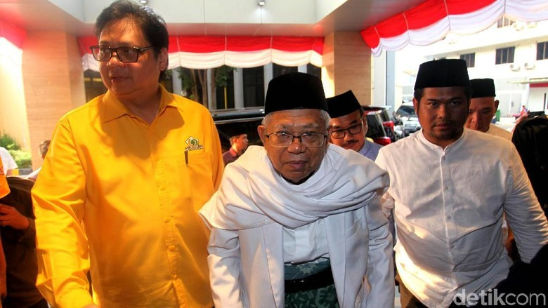 Maruf Amin Sambangi Golkar