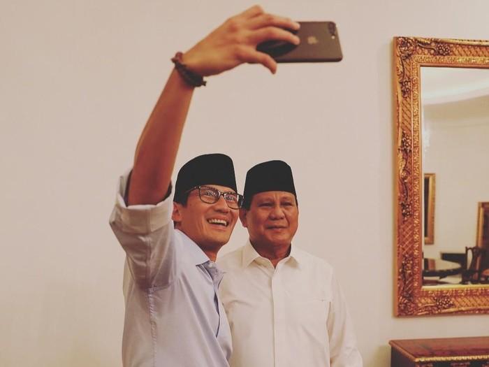 Sandiaga Uno bersama Prabowo Subianto. Foto: Instagram Prabowo Subianto