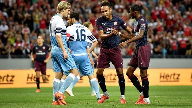 Pierre-Emerick Aubameyang menjadi tumpuan di lini depan Arsenal.