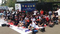 1 Kompi Polisi Amankan Massa Pendukung Prabowo di Silang Monas