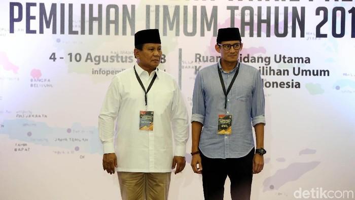 Prabowo Subianto-Sandiaga Uno (Foto: Rengga Sancaya/detikcom)