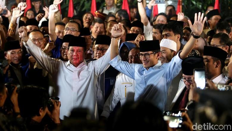 Total Tim Pemenangan Prabowo-Sandiaga 800 Orang