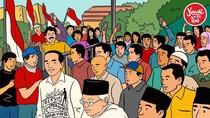 Momen Jokowi Datang ke KPU Bareng Maruf Amin Jadi Ilustrasi