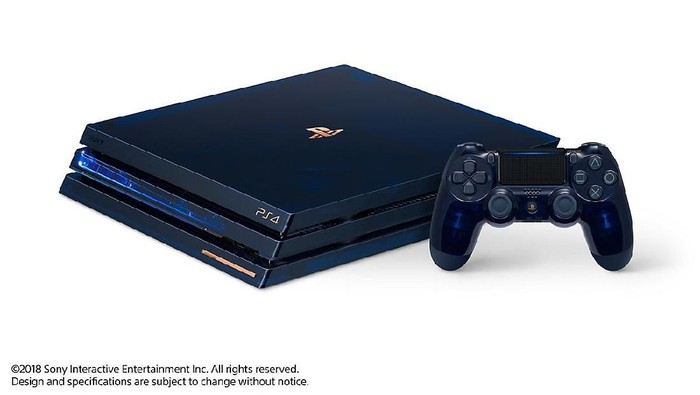 Penampakan PS4 Pro 2TB berbodi transparan. Foto: PlayStation
