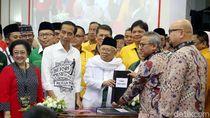 Jokowi-Maruf Amin Serahkan Dokumen Capres-Cawapres ke KPU