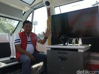 Penampakan Bus 'Hantu' Telkomsel di Asian Games 2018