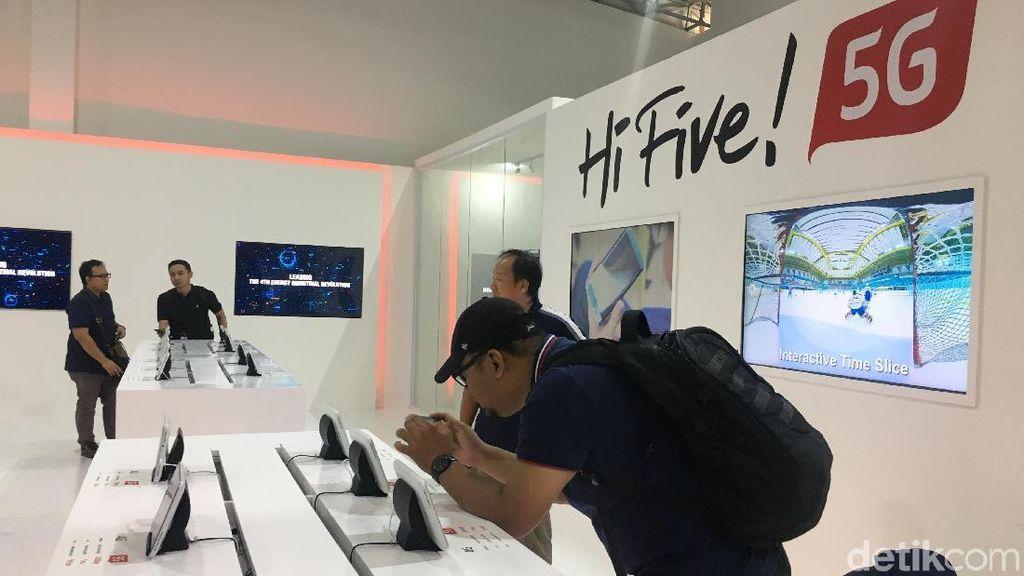 Menjajal Kehebatan Teknologi 5G di GBK