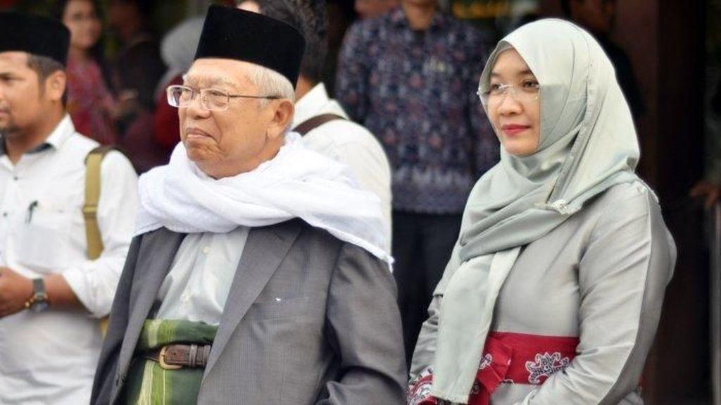 Gaya Hijab Istri Maruf Amin, Mantan Perawat Gigi di Puskesmas
