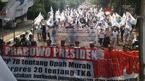 Long March ke KPU, Massa Prabowo Putar Lagu #2019GantiPresiden