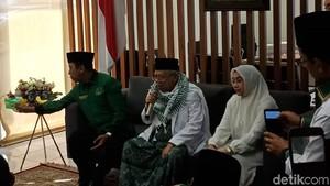 Potret Maruf Amin Didampingi Istri Usai Daftar Cawapres