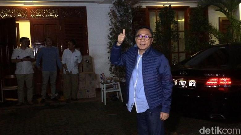 Zulkifli Hasan dan Amien Rais Merapat ke Rumah Prabowo