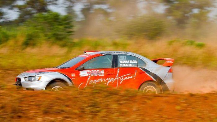 Pebalap F2 Sean Gelael turun di Merdeka Sprint Rally 2018 (dok.Tim Jagonya Ayam)