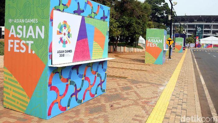 Kawasan Stadion Utama GBK jelang Asian Games 2018 (Foto: Rengga Sancaya/detikSport)