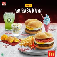 Meriahkan Hari Kemerdekaan Singapura, McDonald's Rilis Burger Rendang