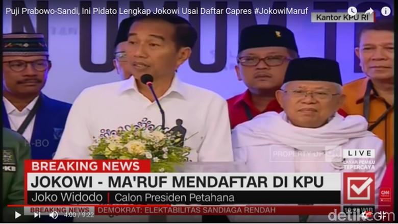 Membaca Ekspresi Jokowi dan Prabowo Usai Daftar Capres di KPU