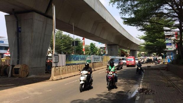 Progres Pembangunan LRT Jakarta