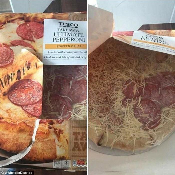 Produk pizza yang satu ini, punya cara yang cerdik untuk menarik konsumen. Yaitu dengan menaruh irisan daging pepperoni di satu sisi saja! Foto: Istimewa