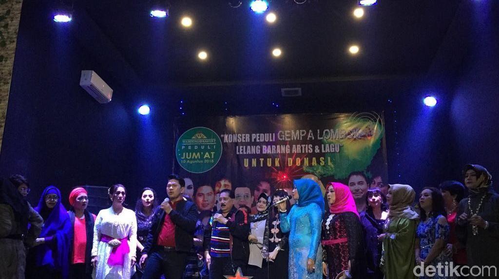 Dorce Gamalama hingga Ruth Sahanaya Gelar Konser Amal untuk Lombok