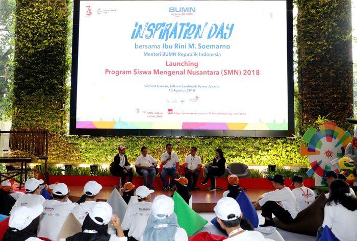 Salah satunya melalui program Siswa Mengenal Nusantara (SMN) 2018. Foto: dok. BUMN