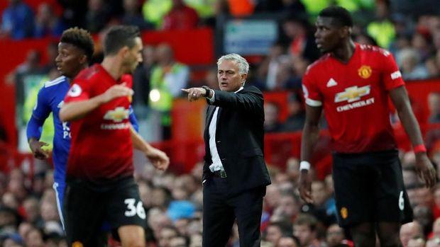 Jose Mourinho mengamankan tiga poin pertama untuk Manchester United di laga pembuka Liga Inggris 2018/2019.