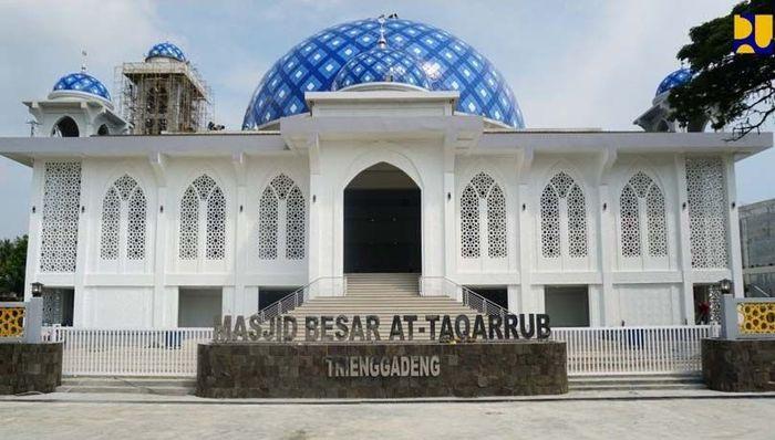 Rekonstruksi yang telah selesai di antaranya Masjid At-Taqarub. Pool/Kementerian PUPR.