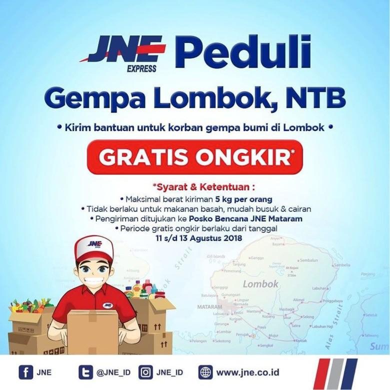 Penyedia Jasa Ekspedisi Gratiskan Ongkir Bantuan Gempa Lombok