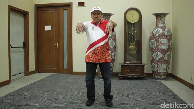 Bambang Hartono berlatih fisik menjelang Asian Games 2018.