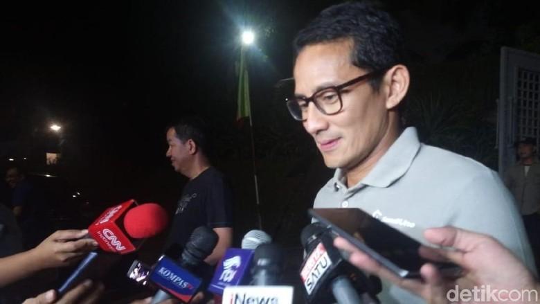 Bertemu Soetrisno Bachir, Sandiaga: Beliau Pendukung Jokowi