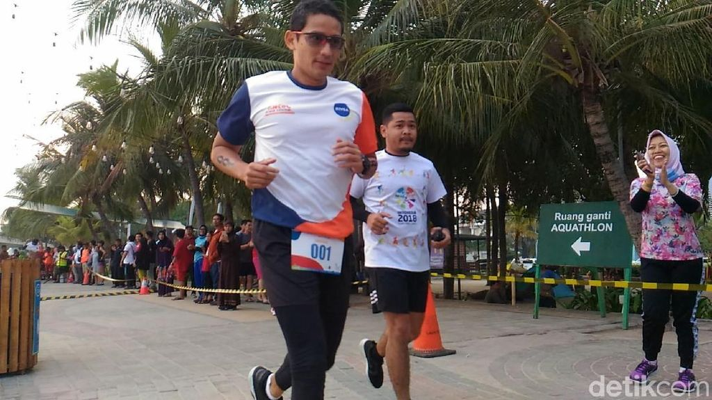 Persiapan Tes Kesehatan, Sandi Lari 5 KM di Acara Ancol Aquathlon