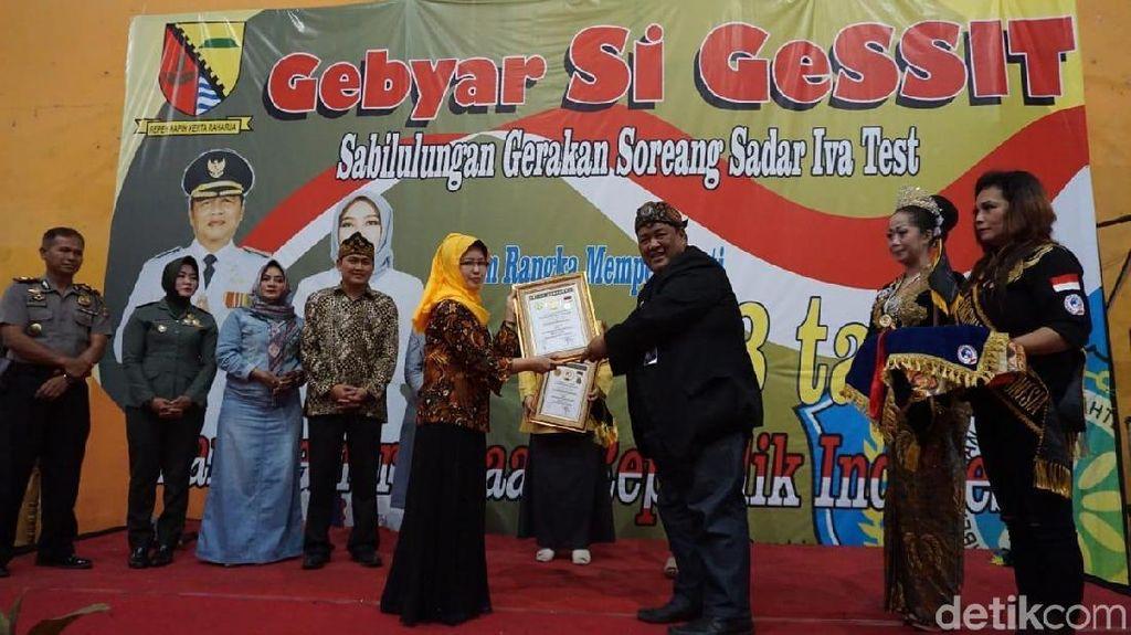 Kecamatan Soreang Bandung Pecahkan Rekor Pemeriksaan Kanker Serviks