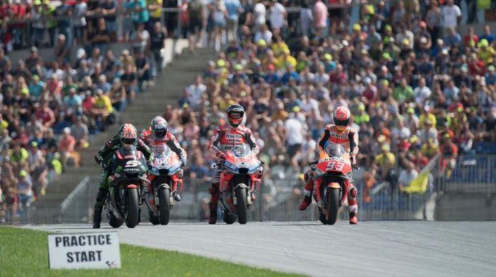 Jalannya MotoGP Austria 2018 malam nanti juga bisa disaksikan secara live streaming di detikSport (Foto: Mirco Lazzari gp/Getty Images)