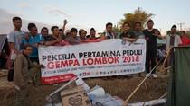 Bantu Korban Gempa Lombok, Pertamina Salurkan 5.200 Liter BBM