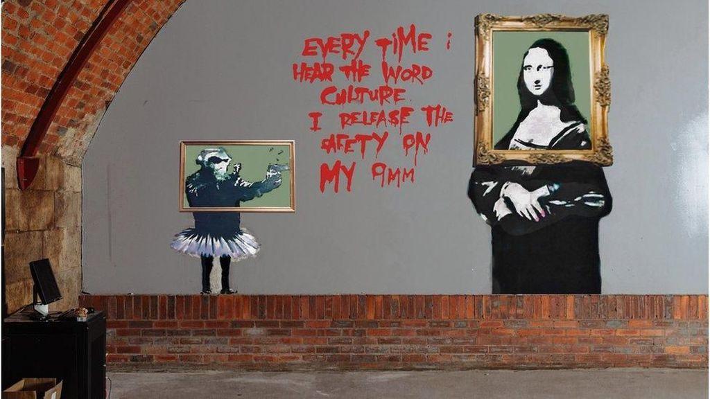 Satu-satunya Karya Mural Banksy di Skotlandia Direstorasi