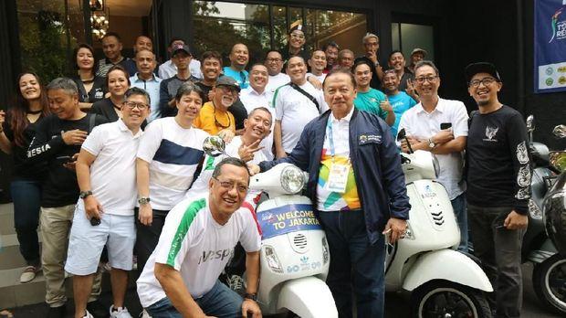 250 Vespa Siap Kawal Kirab Obor Asian Games 2018