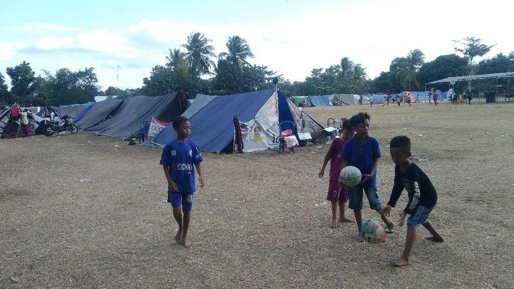 Melihat Semangat Perayaan Kemerdekaan di Pengungsian Gempa NTB
