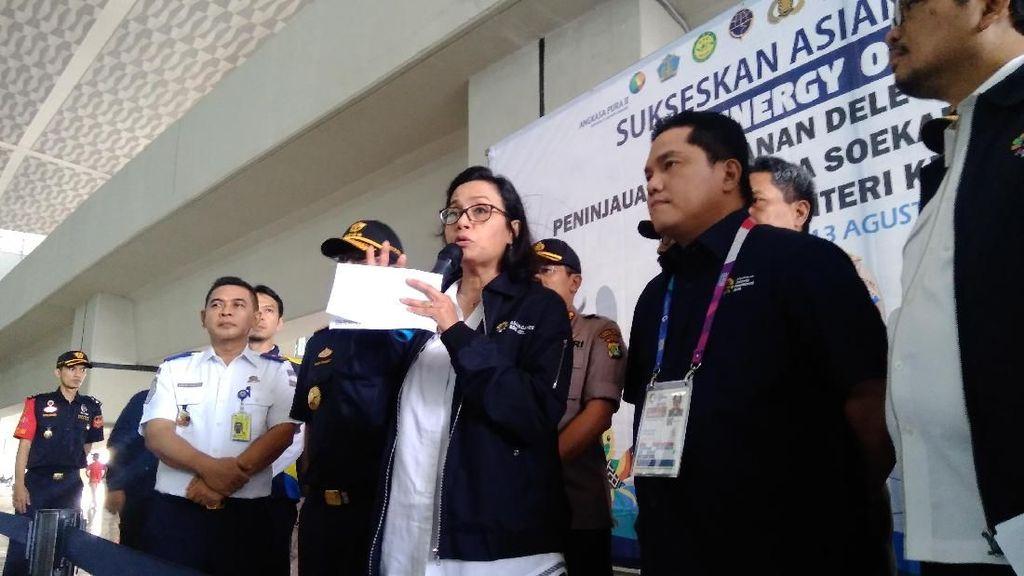 Sri Mulyani Cek Kesiapan Bandara Soetta Sambut Kontingen Asian Games