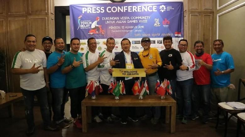 250 Vespa Siap Kawal Kirab Obor Asian Games 2018 Foto: Dok. iVespa Indonesia