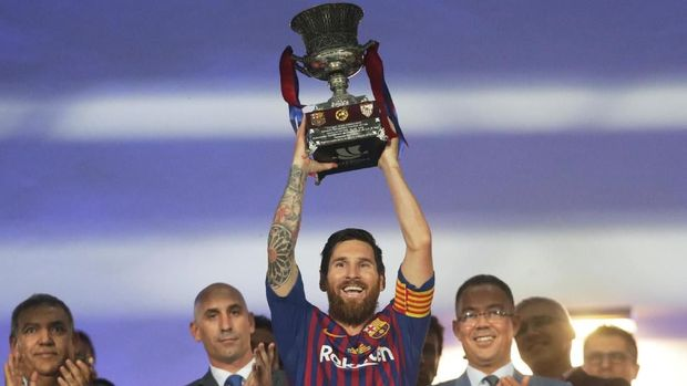 Messi sukses di Barcelona tetapi tidak di timnas Argentina.