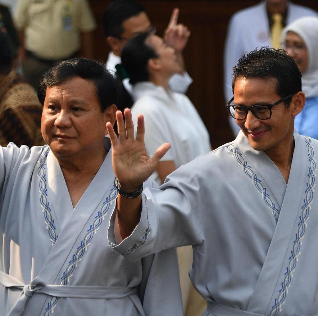 LSI Denny JA: Sandi Kerek Elektabilitas Prabowo