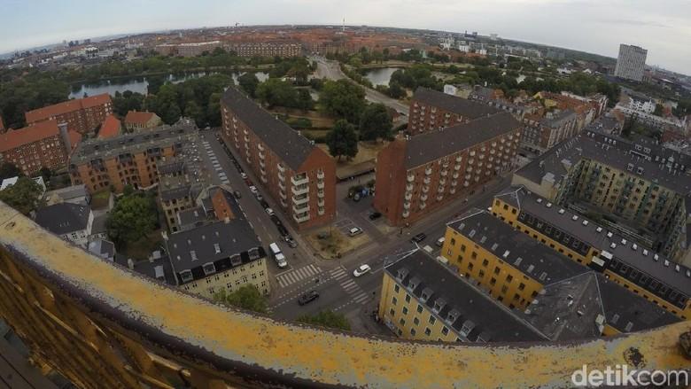 Foto: Panorama Kota Kopenhagen dilihat dari ketinggian (Uyung/detikTravel)