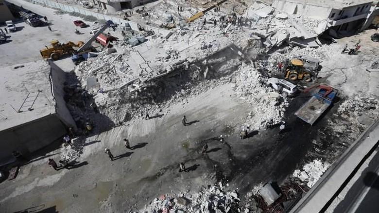 Gudang Senjata Meledak di Suriah, 39 Orang Termasuk Anak-anak Tewas