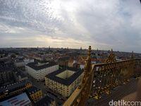 Panorama Kota Kopenhagen dari ketinggian (Uyung/detikTravel)